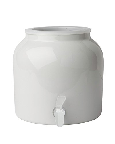 New Wave Enviro Products Porcelain Water Dispenser White (Single), 2.5-Gallon W/Out - Stainless Ceramic