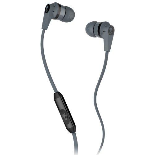 Skullcandy S2IKFY-024 Ink'd 2.0  Earbud Headphones with Mic (Gray/Black)