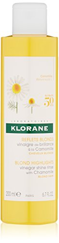 Chamomile Hair Rinse - Klorane Vinegar Shine Rinse with Chamomile for Blonde Hair, Removes Buildup, Revitalizes and Enhances Highlights and  Shine - Ammonia Free