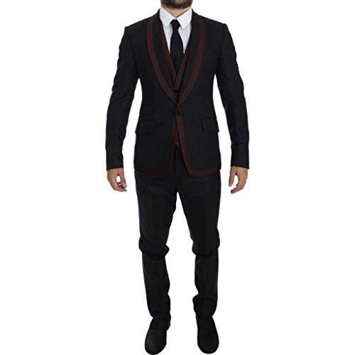Dolce & Gabbana Gray Striped 3 Piece Slim Suit Tuxedo (Tuxedo & Dolce Gabbana)