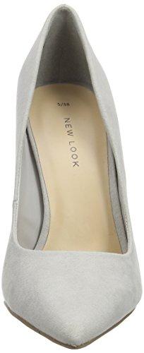 New Look Scram , Zapatos de Tacón para Mujer Gris (Grey/04)