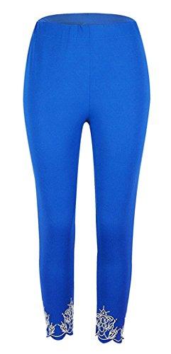 Leggins De Aéré Bund Skinny Filles Blau D'été Pantalon Loisir Élégant Vêtements Bretelles Fashion Cross Élastisch Confortable Femmes Saoye 7xqZY55