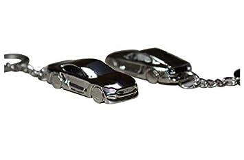 Tollube Ford Mustang Llavero Premium Modelo Plata: Amazon.es ...