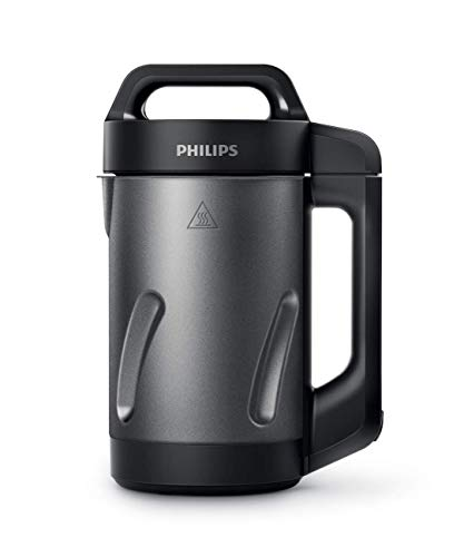 Philips Viva Collection 1000W 1.2-Liter Automatic Soup Maker - Black & Stainless Steel HR2204/70