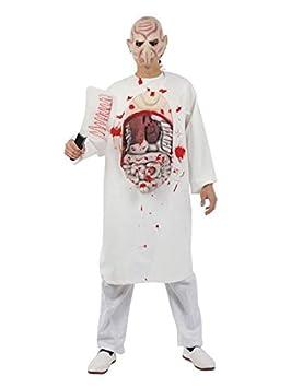 DISBACANAL Disfraz Bata Hospital sangrienta Adulto - Latex: Amazon.es: Juguetes y juegos
