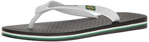 Ipanema Men's Classic Brazil Ii Flip Flop, Black/White, 10.5 US/10/11 M (Brazil Flip Flop Sandals)