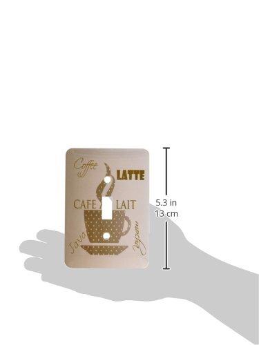 【爆売り!】 3drose LSP 123617 1_ 1 Café Au Au 3drose LaitコーヒーLatteブラウンココアキッチンアートライトスイッチカバー B00D8ENG10, 北方町:91544a67 --- svecha37.ru