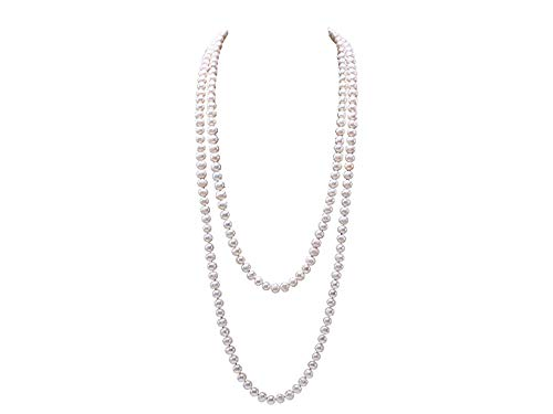 JYX Pearl Necklace 8-9mm Near Round White Cultured