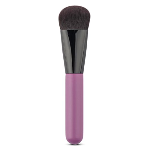 Foundation Makeup Brush, BSGSH Face Kabuki Brush for Liquid Cream Powder Make Up Cosmetic Tools (Purple)