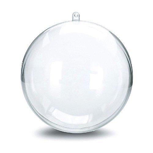 Naice diy crafts wedding decorations bath bomb mold diy for Clear plastic balls for crafts