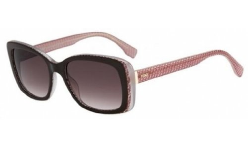 Fendi 0002/S Sunglasses-07PH Brown Burgundy Pink (K8 Brown Gradient - Fendi Pink
