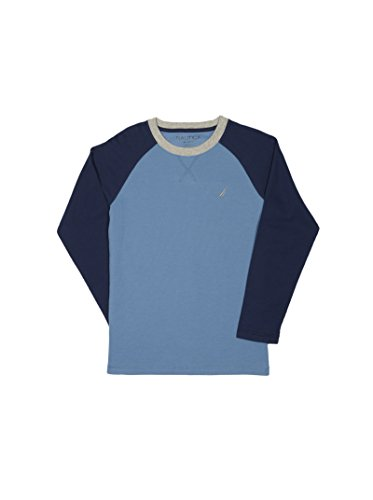 Nautica Little Boys' Long Sleeve Raglan T-Shirt, Riviera, 7 Boys Waffle Knit Tees