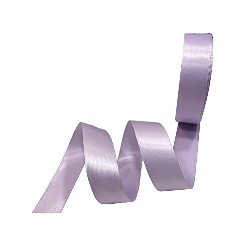 3/8 Inch Wide Double Face Satin Ribbon No Fading Woven Ribbon - 25 Yard (519-Lavender)