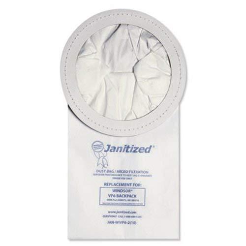 Filters Janitized - Janitized Vacuum Filter Bags Designed to Fit Windsor Backpack Model V6, 100/Count