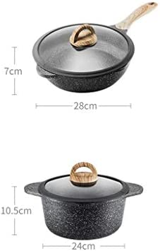 Pots anti-adhésives et casseroles Set Batterie de cuisine, Casserole en aluminium forgé antiadhésifs, 2 pièces