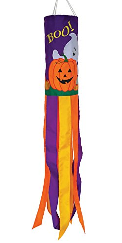 In the Breeze 5056 Boo Halloween Holiday Windsock, 40-Inch