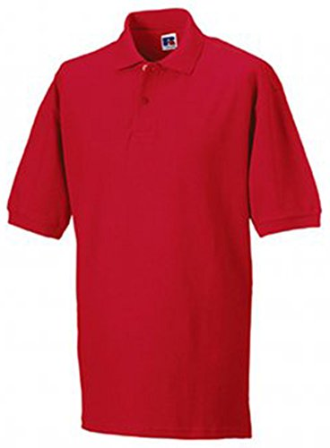 Russell Men's Pique Cotton Short Sleeve Polo Shirt Classic Red XL