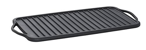 - Sabatier Pre-Seasoned Rust Resistant Double Reversible Griddle, 10-Inch-by-18-Inch