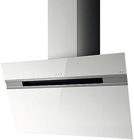 Elica STRIPE WH/A/90/LX - Campana (Canalizado, 1200 m³/h, C, Montado en pared, Halógeno, Color blanco): Amazon.es: Grandes electrodomésticos