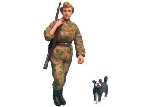 Aurora Model 1/35 Figures WWII Russian Red Army Snipers Figure kit ML38