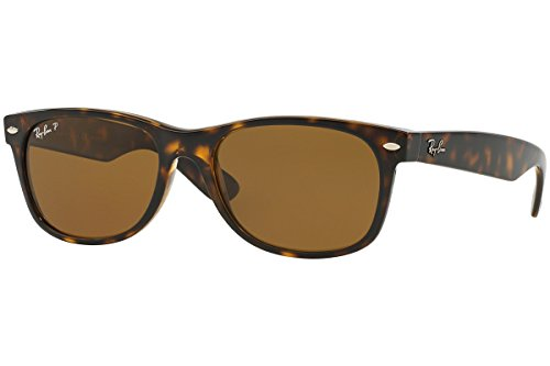 Ray-Ban RB 2132 902/57 55mm New Wayfarer Tortoise w/ Brown Polarized - Wayfarer New Sunglasses Ray Ban