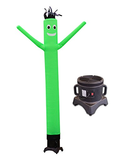 LookOurWay 10ft Air Dancers Inflatable Tube Man Complete Set with 1/2 HP Sky Dancer Blower, 10-Feet, Green