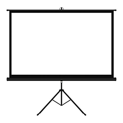 Tripod Portable Projection Screen (100 Inch 16:9 Movie Screen FastFox Outdoor Portable Home Cinema Projector Screens with Tripod Stand PVC Fabric Matte White)