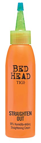 Hair Cream Straightening (TIGI Bed Head Straighten Out 98% Humidity Defying Straightening Cream for Unisex, 4 Ounce)