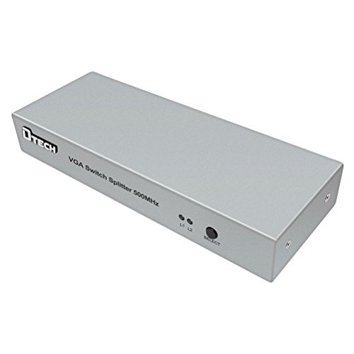DTECH 2 in 2 out VGA Switch Splitter Video Distribution Box for Computer Monitor Sharing (40-80 meter Connection and 2048 x 1536 High Resolution) by DTech (Image #2)