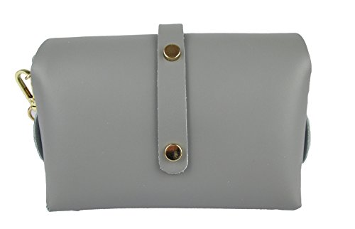 Clutch Designer borsa con tracolla in catena vera pelle Made in Italy giallo