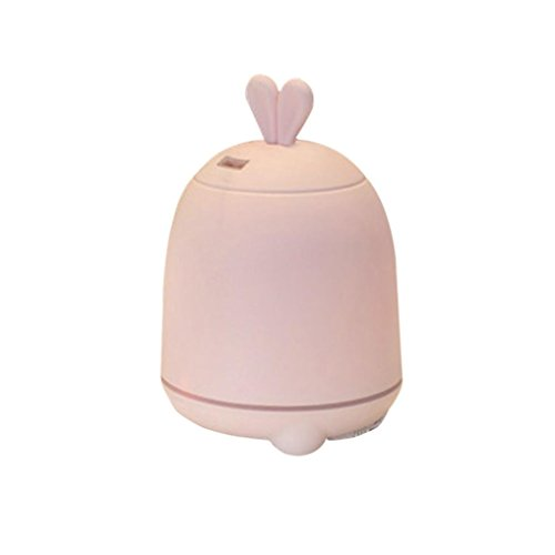 Mikey Store Mini Air Aromatherapy DIY Lovely Rabbit Ultrasonic Humidifier (Pink)