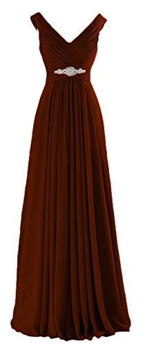 C160LF Women Bridesmaid Chocolate Gowns A CaliaDress Prom Dress Formal Ruffles Long Line vgP8xdPq