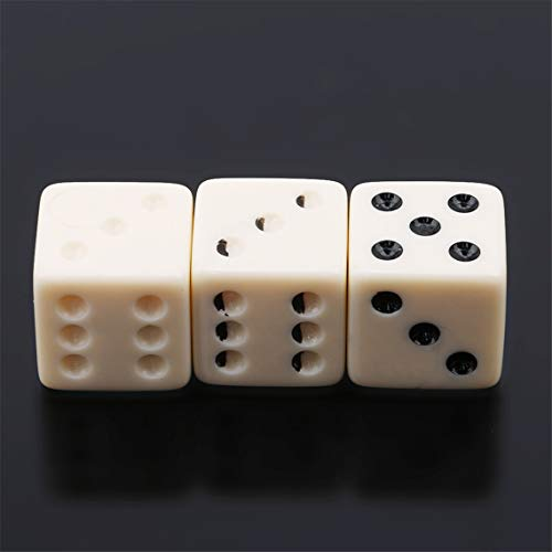 Rurah 3pcs/Set Illusion Dice Reflection Illusion Magic Prop Magic Trick Mirror Dice Children Toy Party Performance Halloween Game Prop -