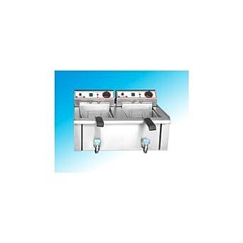 Freidora Eléctrica professional 13+13 litros cm 69x52x37 RS1014: Amazon.es: Industria, empresas y ciencia