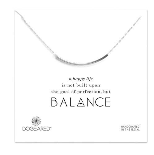 Dogeared Balance Tube Bar - Necklace - Silver Tone