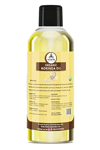 Organic Moringa Seed Oil [ 100ml ] - 100% Natural and Pure Moringa Oil for Face, Hair & Body by Naturevibe Botanical