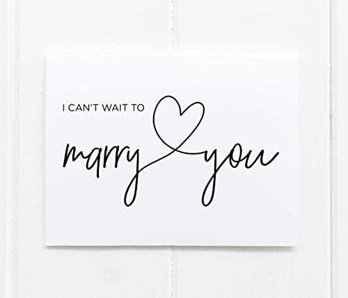 I Can't Wait to Marry You, Bride to Groom Wedding Day Card, Letters To My Husband From Wife, Love Gift for Him, Fiancé Gifts, Vows