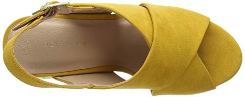 Aperta Col Scarpe Giallo Yellow Punta Tootsie dark Donna 87 Look New Tacco wTWfYgqERn