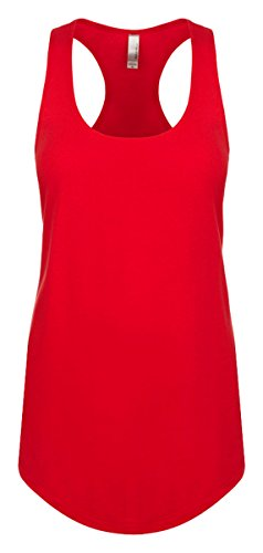 Next Level Apparel Women's Tear-Away Tank Top, Red, Large