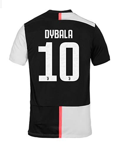 (Ki goddess Juventus 2019-2020 New Season #10 Dybala Home Mans Soccer Jersey Black/White Size S)