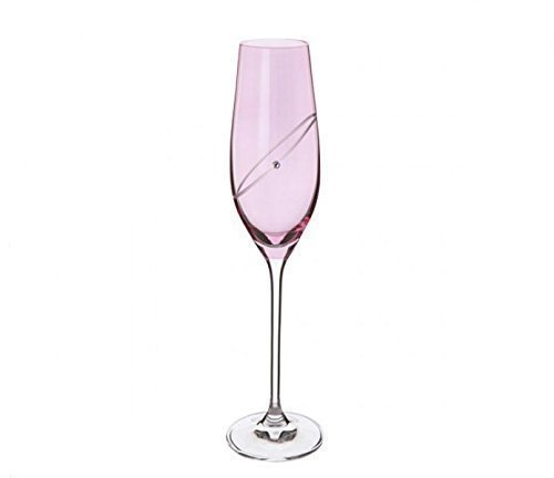 Dartington Crystal Ruby Anniversary Toasting Celebration Champagne Flutes ()