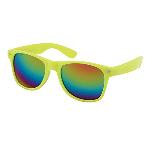 Chic-Net Gafas de sol unisex Nerd espejo arco iris 400 UV ...