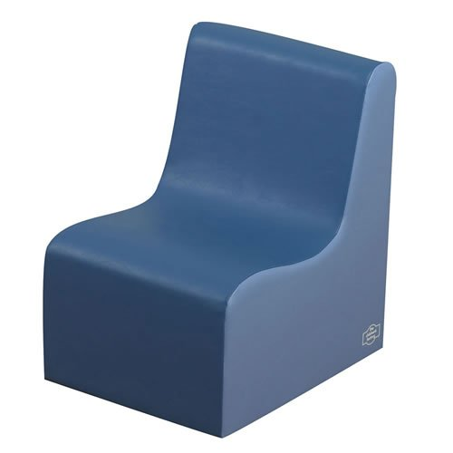 Cozy Woodland Contour Kids Chair Color: Deep Water/Sky Blue, Size: 23.5'' H x 21''W x 16'' D by Children's Factory (Image #1)