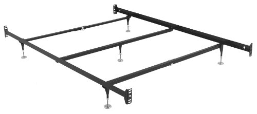 Leggett & Platt Consumer Products Group Adjustable Brass Fashion Bed Rails Bed Frame System with 5 Legs, Queen by Leggett & Platt Consumer Products Group