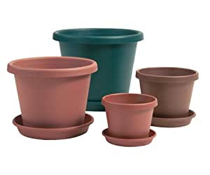"""Garden Accents: 16"""""""" Terra Cotta Classic Pot [12 Pieces] *** Product Description: Durable, Waterproof, High-Impact, Plastic Resin Classic Pots That Reproduce The Style And Classic Look Of Hand-Thrown Terra Cotta. 80% Lighter Than Clay, These Pots ***"""