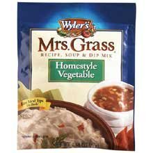Mrs. Grass Homestyle Vegetable Recipe, Soup and Dip Mix - 2 oz. envelope, 12 per case (Mushroom Pizza Spinach)