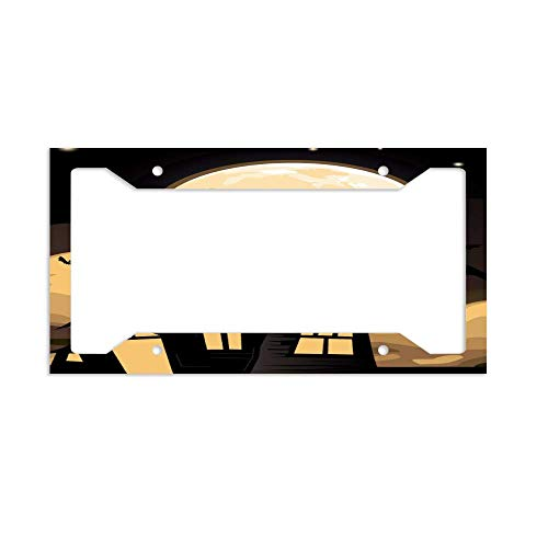 (luckmx Personalized Custom License Plate Frame, Car Tag)