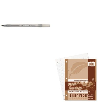 Ecology Filler Paper - KITBICGSM11BKPAC3203 - Value Kit - Pacon Ecology Filler Paper (PAC3203) and BIC Round Stic Ballpoint Stick Pen (BICGSM11BK)
