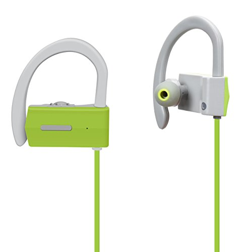 Sobetter Bluetooth Headphones Wireless In Ear Earbuds V4.1 Stereo Noise Isolating Sports Sweatproof Headset with Mic, Premium Bass Sound - Green