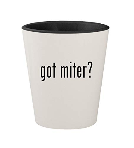 got miter? - Ceramic White Outer & Black Inner 1.5oz Shot Glass
